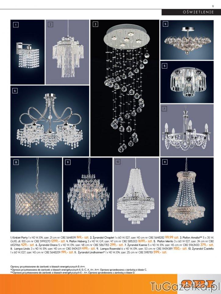 Lampy Sufitowe Zdobione Kryształkami Obi Wystrój Wnętrz