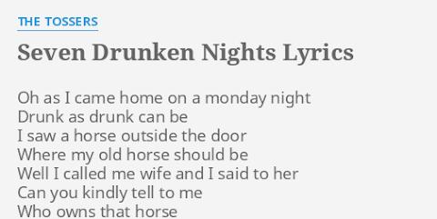 As I Came Home On Monday Night Lyrics