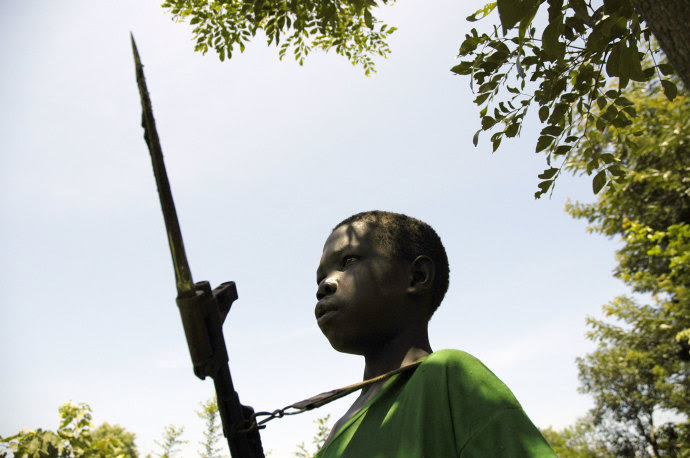 One of the many child soldiers in the Lord's Resistance Army.