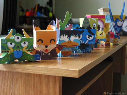 Japanese Monster Papercrafts 02