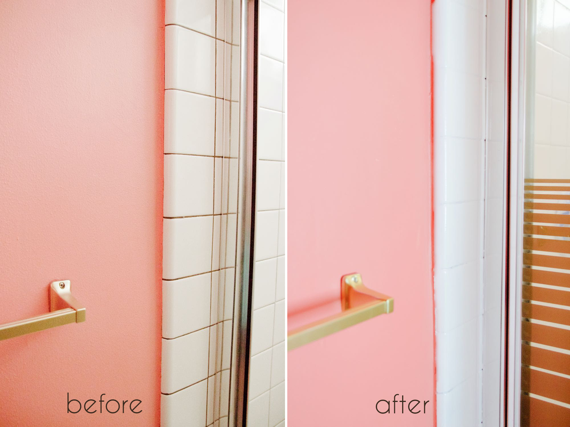 A Bathroom Tile Makeover...With Paint - Ramshackle Glam