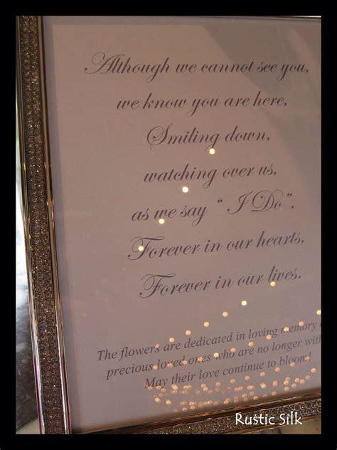 Honoring deceased at wedding   wedding   Wedding poems