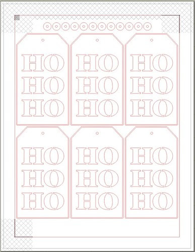 HO HO HO tags - free print & cut file - with printer's bleed BLANK