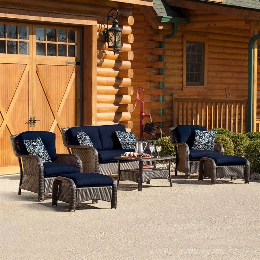 Shop Hanover Outdoor Furniture Strathmere 6-Piece Wicker ...