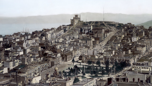 Telegraph Hill, from Russian Hill c1890