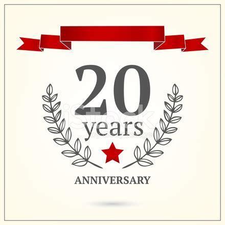 Twenty Years Anniversary Sign Stock Vector   FreeImages.com