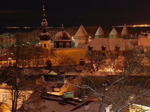 Some new snow in old town. 1