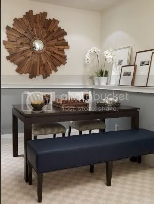Chair rail in dining room - darker color on top or bottom? - Home ...