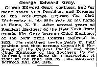 George Edward Gray Obituary from the New York Times