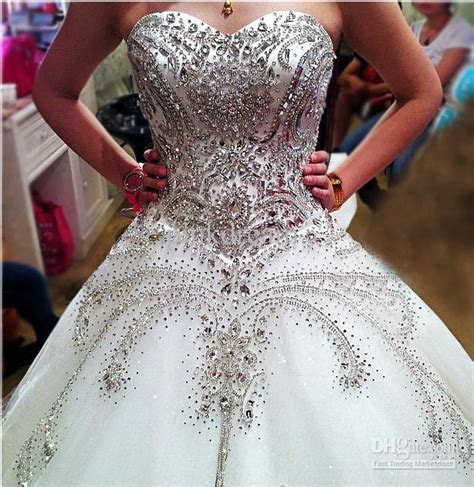Cathedral Ivory Sweetheart Ball Gown Rhinestone Applique