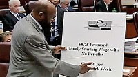 """Photo: Chicago alderman: """"Sad"""" contrast between Wal-Mart CEO's pay and employee wages"""