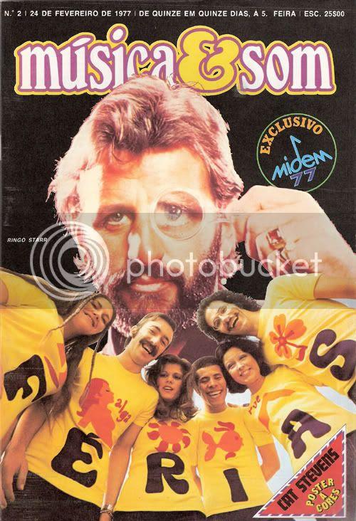 Reprodução da capa do número 2 de Música & Som, datado de 24 de Fevereiro de 1977.