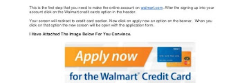 Walmart Credit Card Application