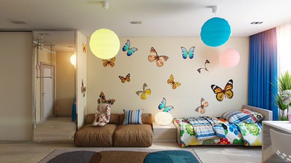 Butterfly theme bedroom