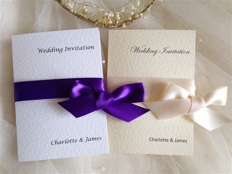 Wrap Ribbon Wedding Invitations   Wedding Invites from £1 each