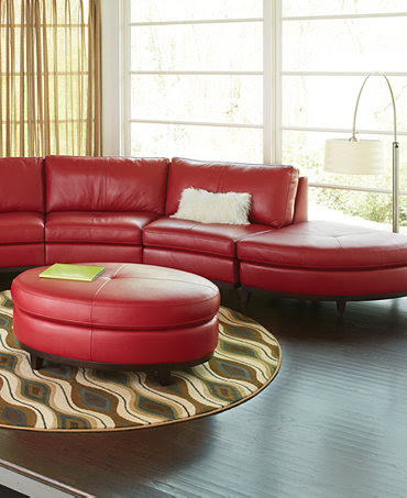 Lyla Leather Sectional Living Room Furniture Sets & Pieces ...