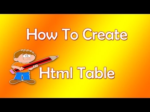 HTML Tutorial for Beginners - Create Table