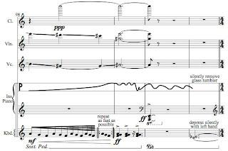 Bleu 3 musical score by Jean-Francois Charles
