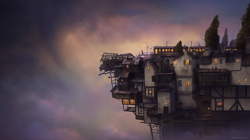 Surreal Worlds Digitally Painted by Gediminas Pranckevicius painting digital