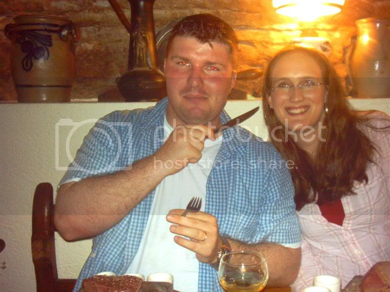 Me and Anthony at Die Kartoffel (aka. Steak on a rock) photo Amy001.jpg