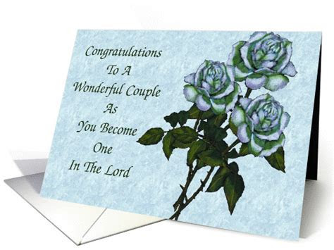 Wedding Congratulations: White Roses: Christian card (940543)