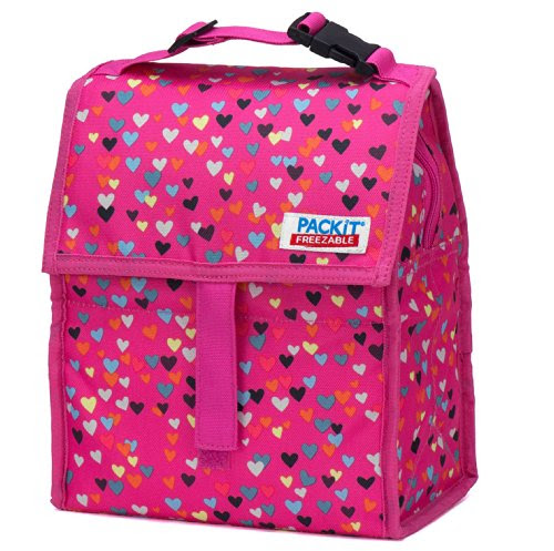 PackIt Freezable Lunch Bag with Zip Closure, Hearts ...