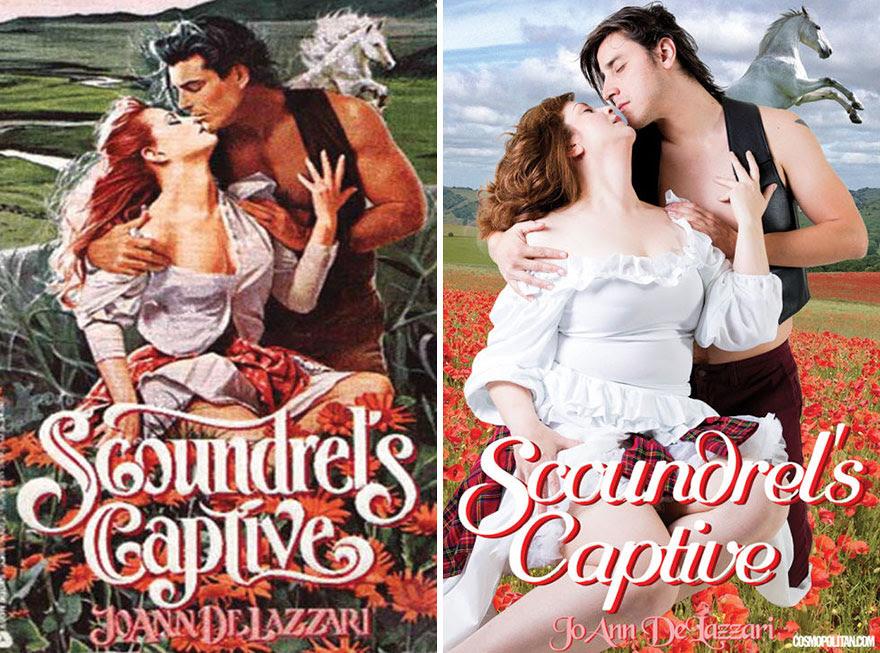 1 - Regular couple recreates romance book cover of Scoundrel's Captive