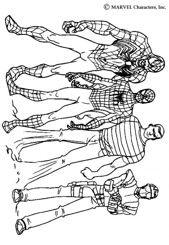 Dibujos Para Colorear Los Personajes De Spiderman 3 Eshellokidscom