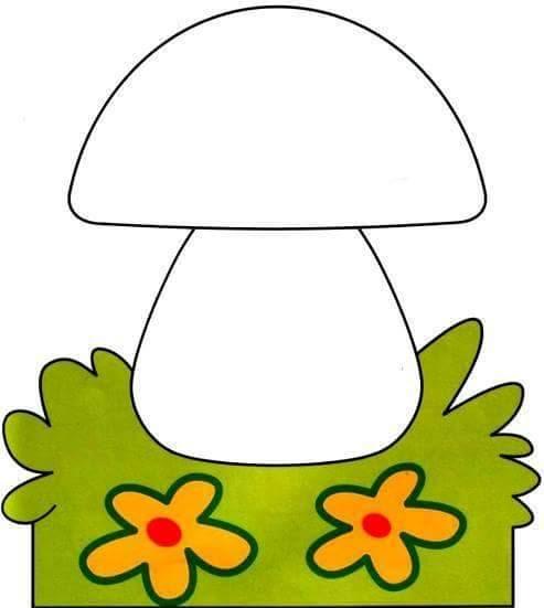 mushroom finger painting templates 2