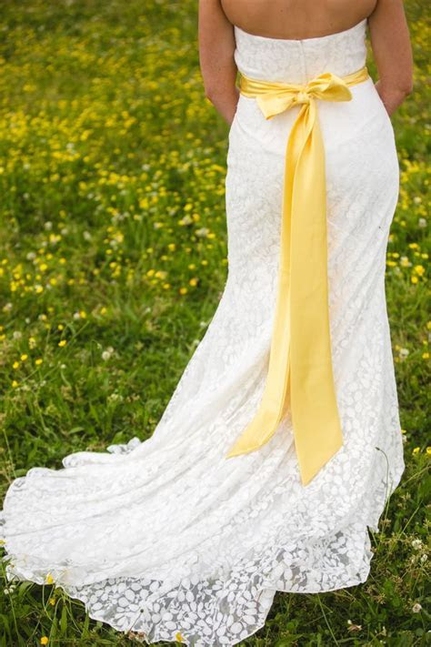 17 Best ideas about Yellow Wedding Dresses on Pinterest