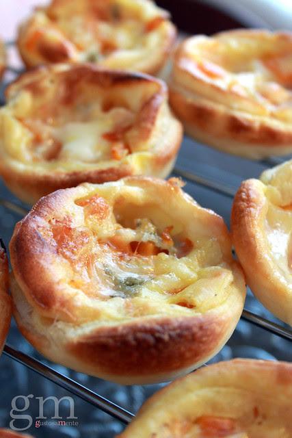 Tartellette zucca e gorgonzola