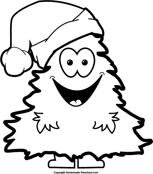 Christmas Clipart Black And White Free Download Best Christmas