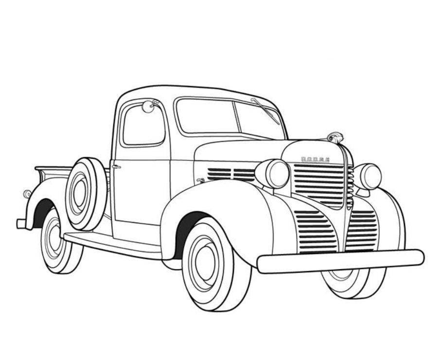 Free Coloring Pages For Kids Trucks Drawing With Crayons