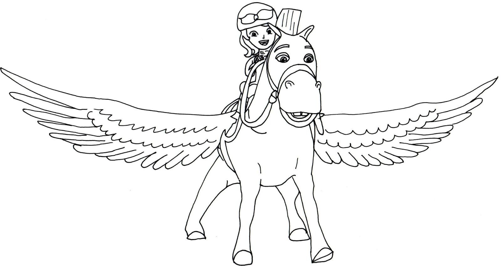 free coloriage princesse sofia et cheval volant with coloriage princesse sofia imprimer gratuit