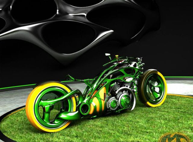 STRANGE CUSTOM RUSSIAN MOTORCYCLES - JOHN DEERE COLORS
