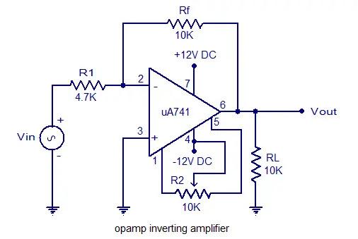 inverting amplifier 741