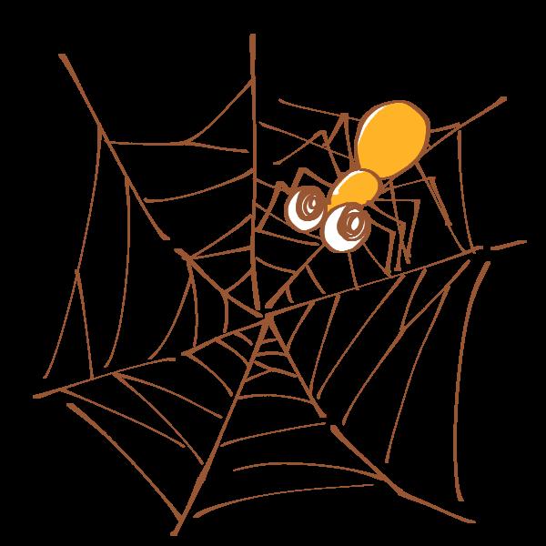 蜘蛛の巣と蜘蛛のイラスト かわいいフリー素材が無料のイラストレイン