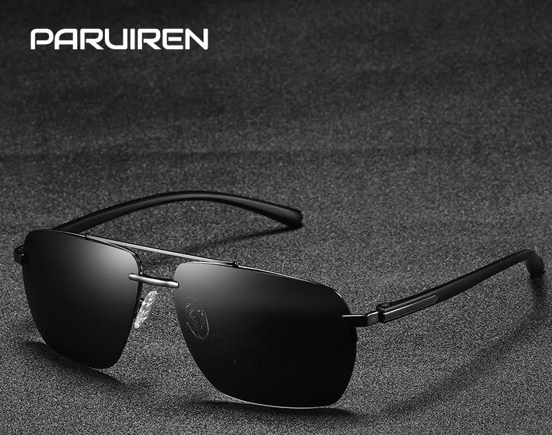 3225363e5c Comprar De Lujo Gafas Sol Para Hombres, Vintage Aviador Retro Diseñador La  Marca Cuadrado Sin Montura Negro Hombre Accesorios Online Baratos |  fcuk-thloves