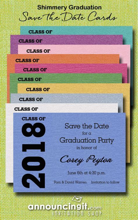 2018 Graduation Save the Date Cards
