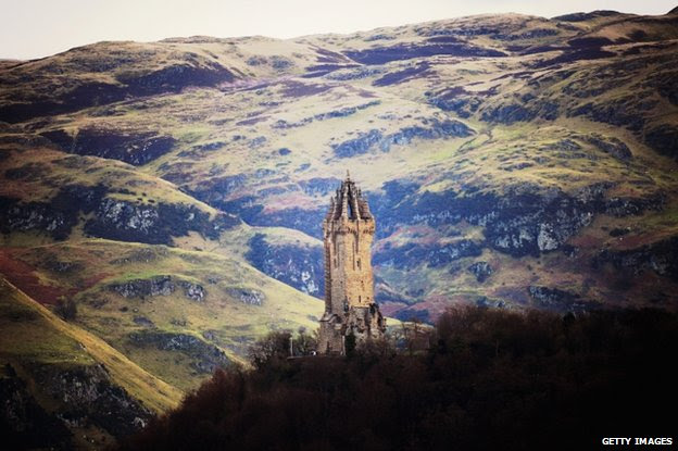 The Wallace monument, honouring Scottish freedom fighter William Wallace