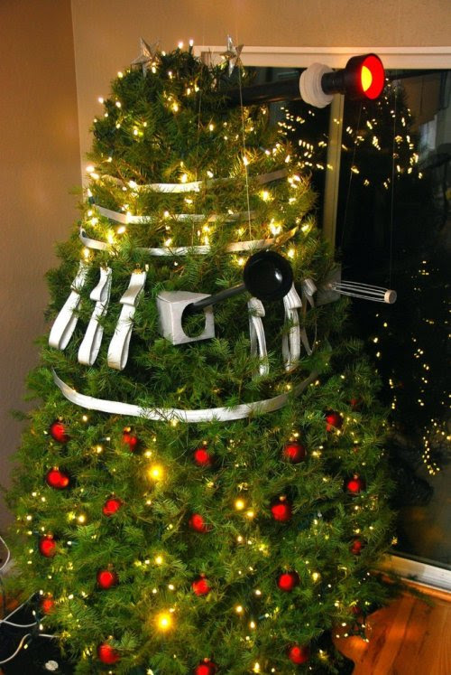 lookingforautumn posted this incredibly awesome Dalek Christmas tree. (We were hoping it was a still from this year's Doctor Who Christmas Special!)