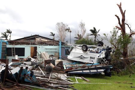 Daños causados por el ciclón Yasi a su paso por la población de Tully, al norte de Queensland (Australia).