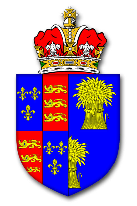The Arms of The Earl of Chester adapted from an illustration in the Visitations of Chester
