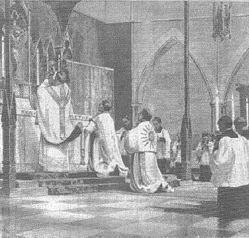An eastward-facing Solemn High Mass, a Catholi...