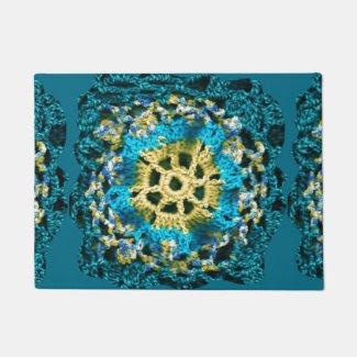 Crocheted Look on Doormat