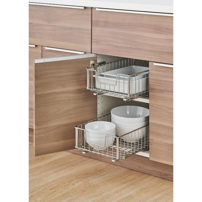 TRINITY 11.5-in W x 6-in H 1-Tier Pull Out Metal Baskets ...