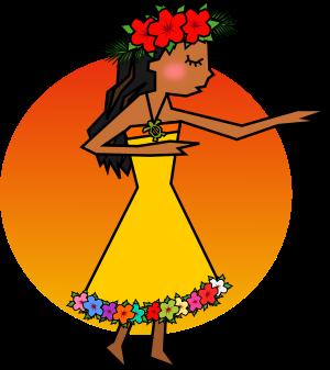 フラダンスを踊る女性のイラスト 無料イラスト作成ソフトinkscape