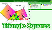 Triangle with Squares Problem