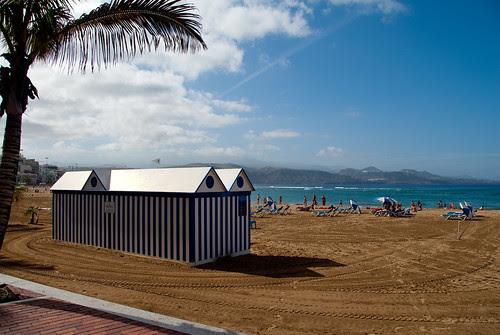 Playa de Las Canteras el primer día del año 2009