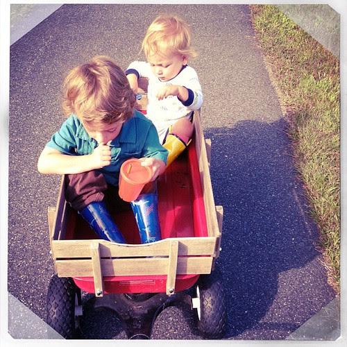 Wagon ride.